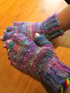 Fingerless gloves for my daugher